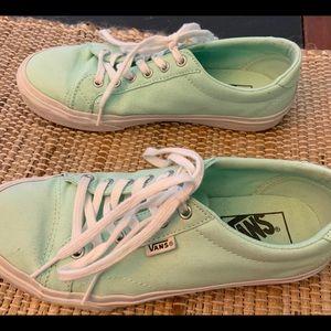 Women's Mint Green Vans Gently Worn